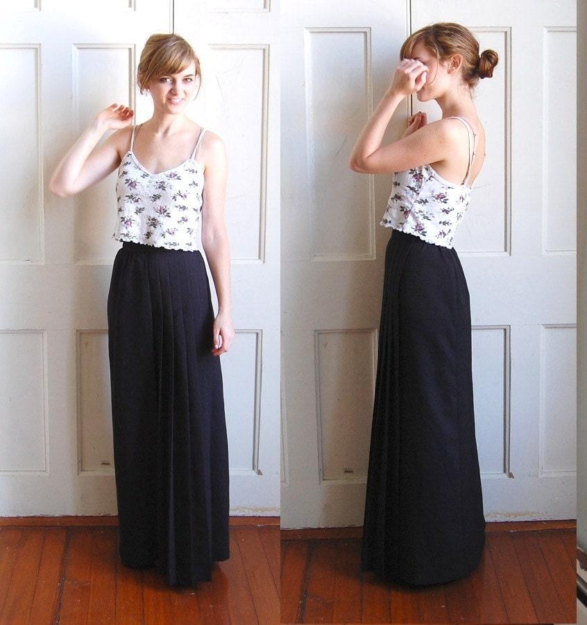 Black High Waisted Maxi Skirt