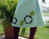 Custom VINTAGE TEAL Wool Skirt