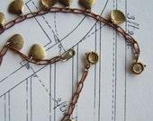 Vintage Mixed Metal Delicate Shell Bracelets  (2)