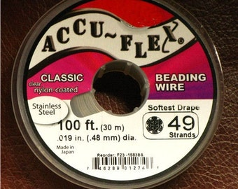 AccuFlex 'Clear'  .019 in - 49 strand - 100 FT- 'Buy In Bulk' and save money