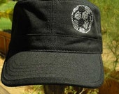 Soccer Ball Military Style Cap