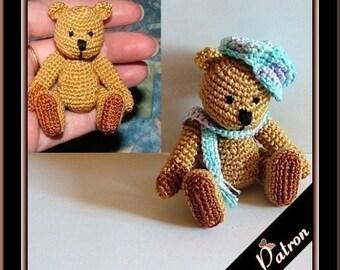 Pattern Gasian the bear amigurumi crochet, digital pattern