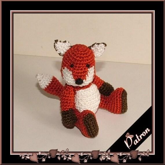 Pattern Louarn the fox amigurumi crochet, digital pattern
