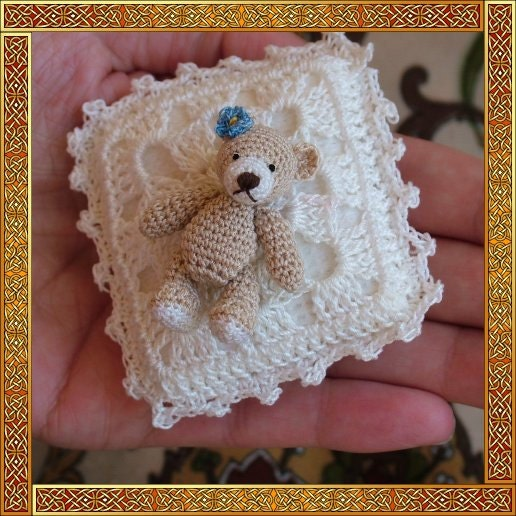 Vivian micro bear amigurumi digital crochet pattern