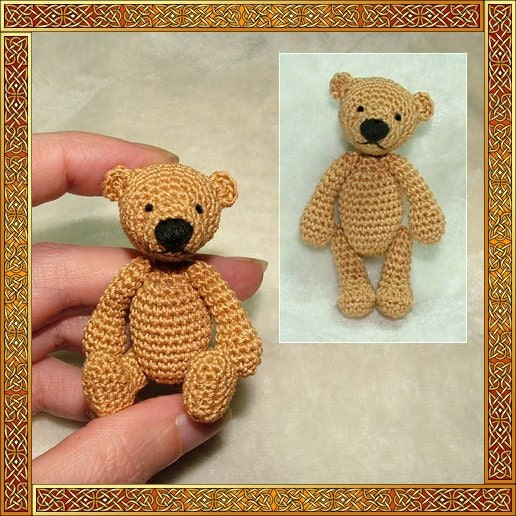 Erwan the bear amigurumi crochet pattern digital pattern