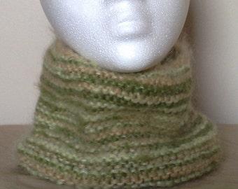 Green Stripey Neck Warmer