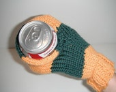 Handknit Beer Muff Koozie - Sports Team Colors
