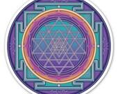 Sri Yantra - a Window Sticker