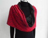 RENAISSANCE RED REVERSIBLE TUBE \/ SCARF - NOT ONLY FOR VALENTINE'S \/ MOTHER'S DAY