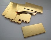 12 large flat brass rectangle stamping blanks