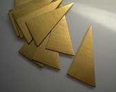 12 large flat brass right triangle stamping blanks