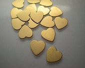 """18 small flat heart charms, 1/2"""""""