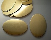 12 extra large flat brass oval discs/stamping blanks