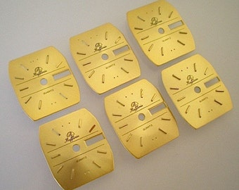 6 Matching vintage watch faces