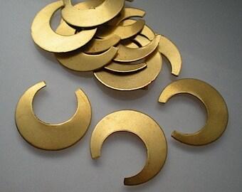 12 flat brass open hoop stamping blanks