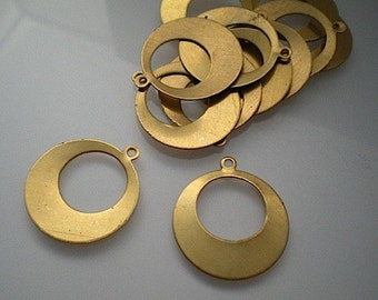 12 brass gypsy hoop findings