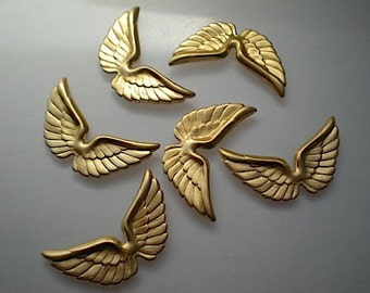 6 angel wing charms