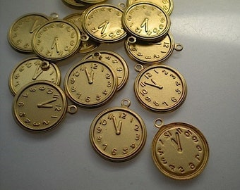 18 brass clock charms