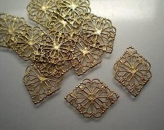 12 hexagonal filigrees