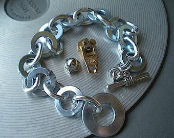 Cyclical - industrial hardware bracelet