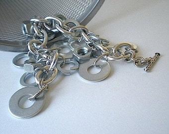 A few good nuts - industrial hardware bracelet