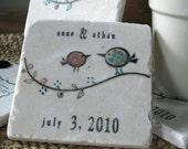 Tweet His and Her Birdie Wedding Favor Coasters, Set of 30