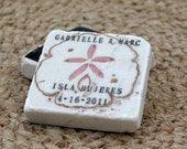Sand dollar Wedding Favors, Save The Date Magnets, Set of 50