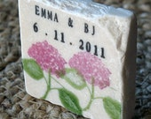 Pink Hydrangea Save the Date Magnets, Wedding Favor, Set of 25