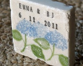 Personalized Hydrangea Wedding Favors - Garden Save the Date Magnets - Set of 25
