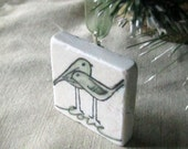 Wedding Favor, Love Bird Ornament, Sage Green, Set of 25