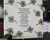 Good Health, Good Luck Irish Tile Trivet - Celtic Home Decor
