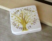 Monogram Wedding Favors, Save the Date Magnets, Yellow Butterfly Tree, Set of 25