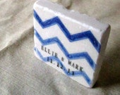 Personalized Blue Chevron Wedding Favor Magnets - Ombre Save the Date Magnets Set of 25