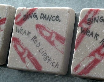 Sing, Dance, Wear Red Lipstick Magnets, Set of 3