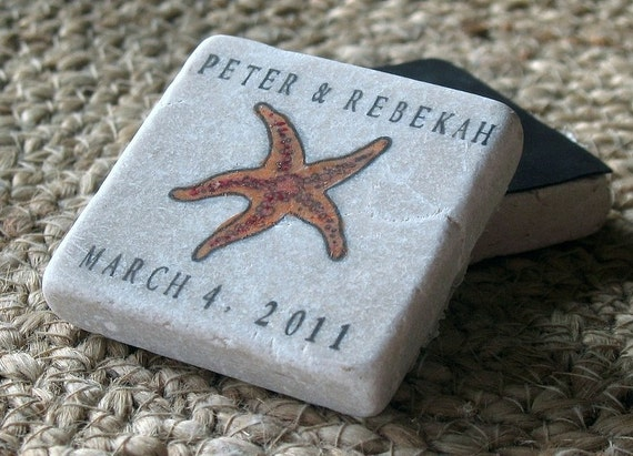 Personalized Starfish Wedding Party Favors By MyLittleChick