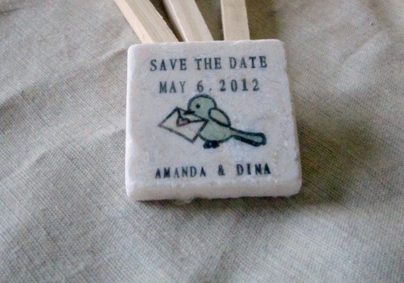 Birdie Save the Date Magnets, Wedding Favors, Set of 30