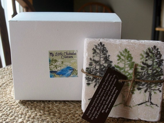 Gift Wrapping for a Set of Tile Coasters