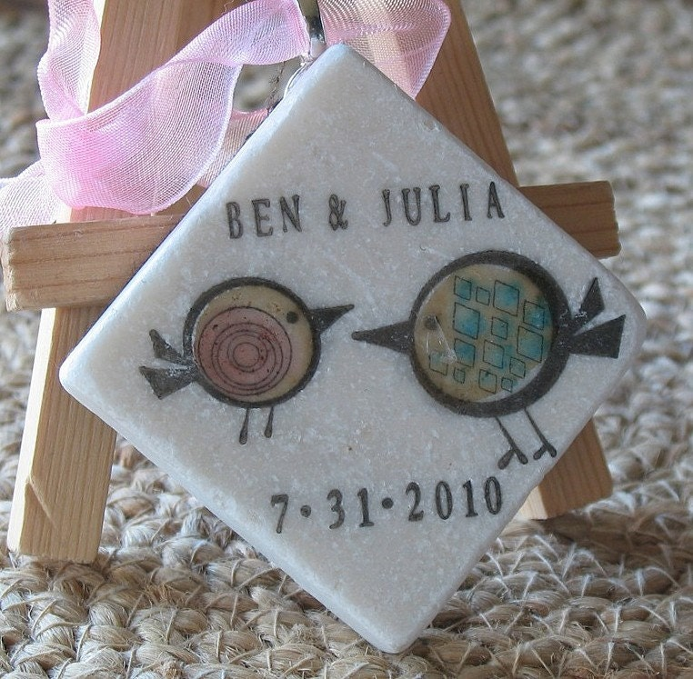 Tweet Birdie Ornament Wedding Favors Set Of 25 By MyLittleChick