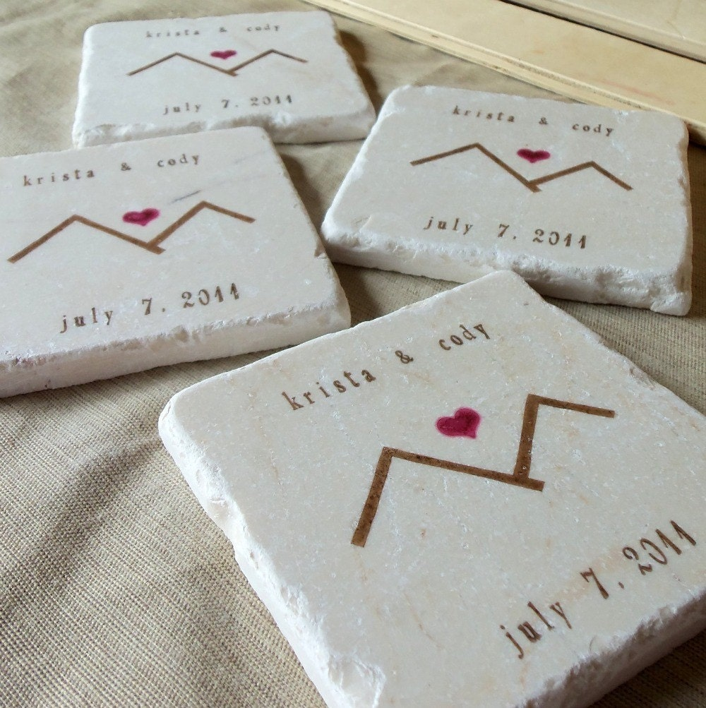 Personalized Glass Coasters Wedding Favors - oukas.info