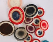 14 Circle in Circle Vintage Buttons