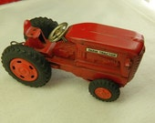 Vintage 1960s Japan Tin Toy Farm Ranch Tractor w/Rubber Tires in Great Condition
