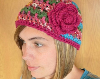 Adult - Summer Rose Beanie- Any Colors