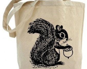 Squirrel - Eco Friendly Tote Bag