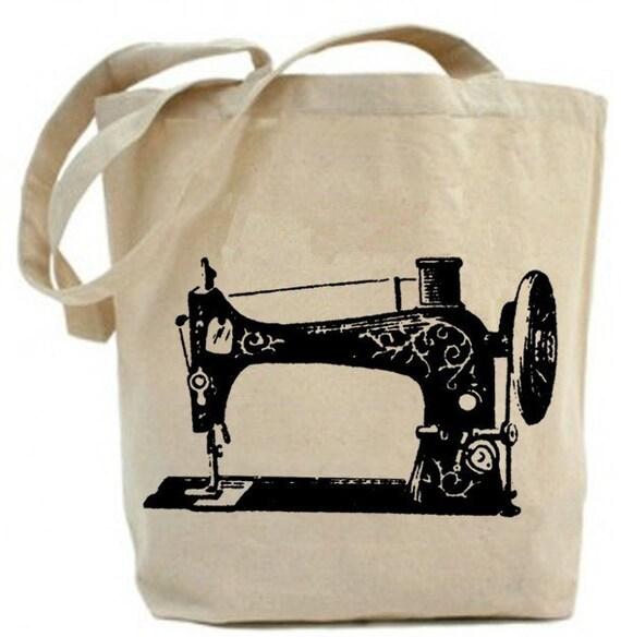 Recycled Tote - Vintage Sewing Machine