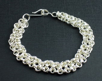 Sterling Silver Bracelet Japanese Lace Chainmaille