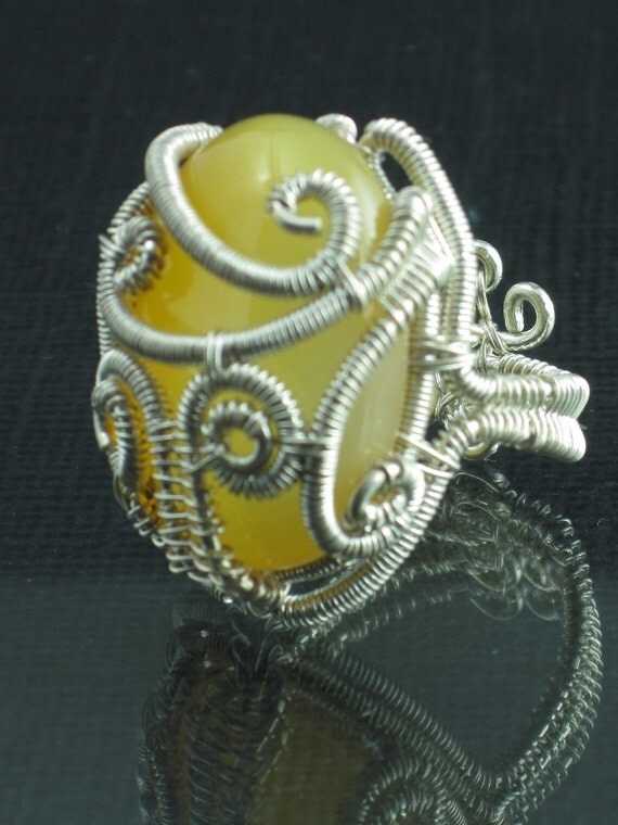 Sterling Silver Woven Ring Serpentine Ring