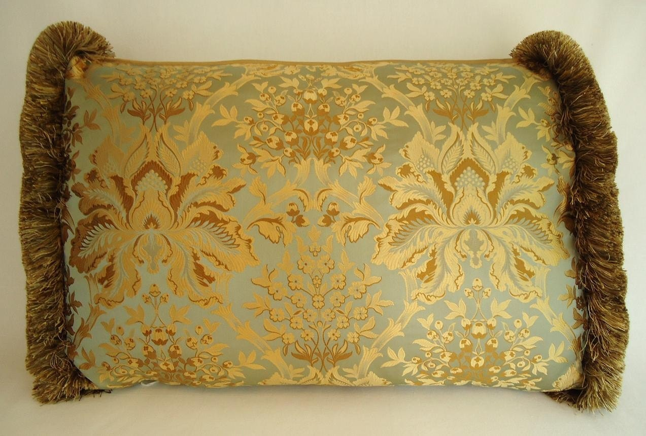 Embroidered silk brocade pillows throw pillow living room Decorative pillows living room