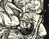 Sleepyhead (Original Woodblock Print)