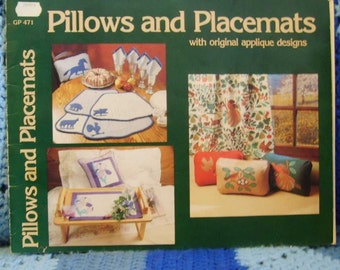 Pillows and Placemats with original applique designs 1983