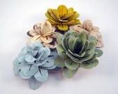 Paper Flowers - Decorative Craft Flowers (set of 5)